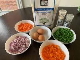 Healthy No-Soya-Sauce Egg Fried Rice
